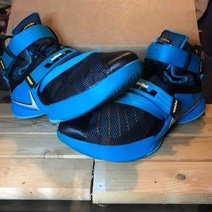 "Nike LeBron Soldier 9 ""Black Lagoon"" size 14"